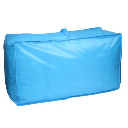 Pillow Storage Box - Foldable Dustproof Zippered Quilt Blanket Pillow Storage Bag Case Container