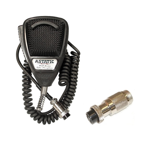 Astatic 636L Noise Cancelling Mic CB Radio Microphone W/ 5-Pin HR Adapter
