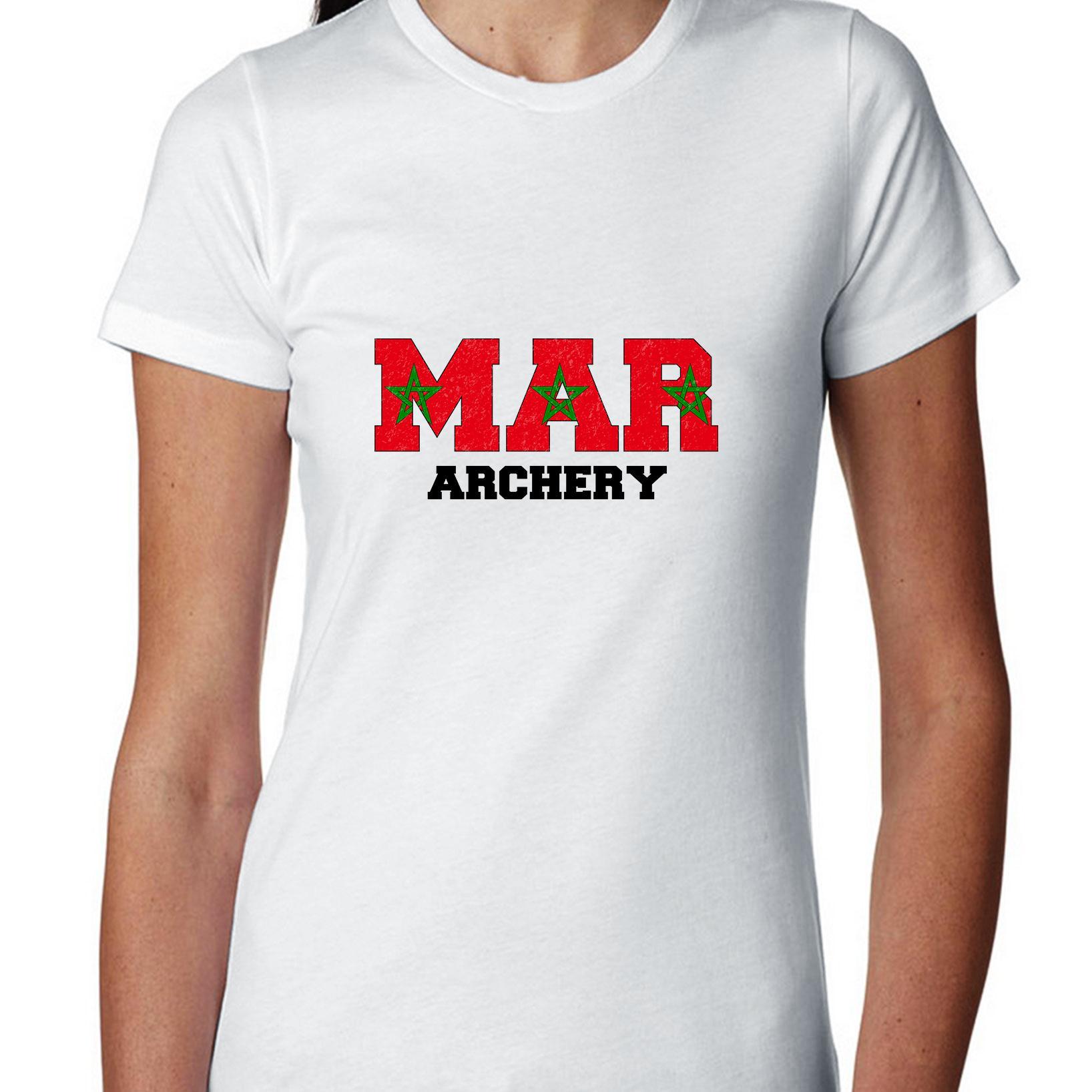 Morocco Archery - Olympic Games - Rio - Flag Women's Cotton T-Shirt