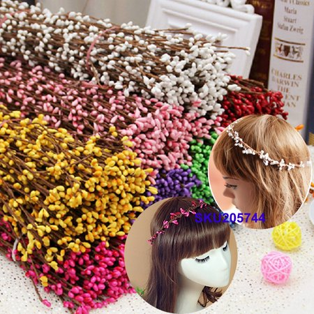 25Pcs Artificial Flower Hair HeadBand Vine Garland Rattan Party Home Wedding Girls](Girls Vine)