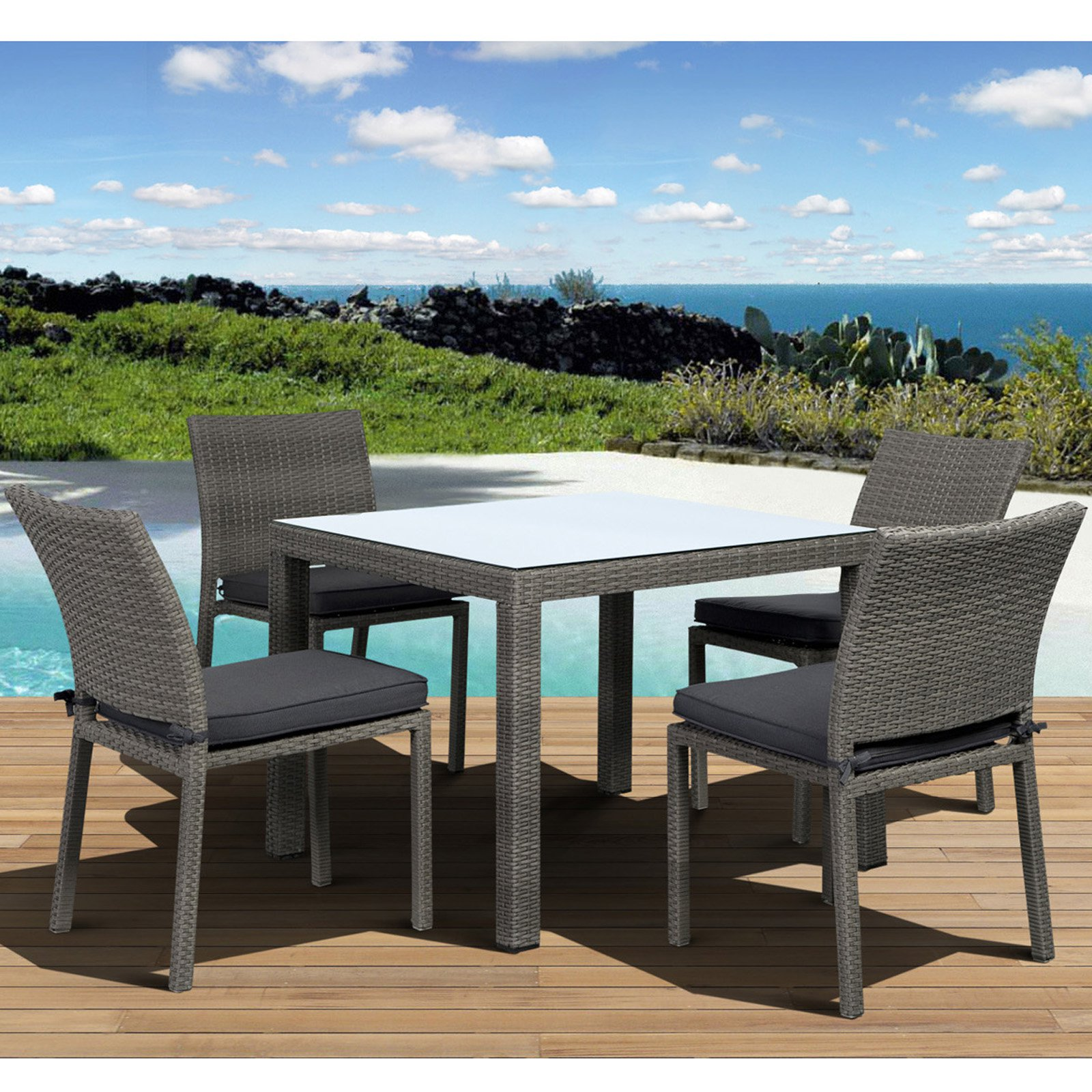 Atlantic Liberty All-Weather Wicker Patio Dining Set - Seats 4