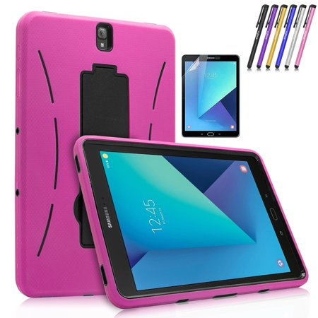 quality design 3f855 40e66 Galaxy Tab S3 9.7 Case, Mignova Heavy Duty Dual Layer Defender Protective  Tablet Case Cover with Kickstand for Samsung Galaxy Tab S3 9.7 inch (2017)  + ...