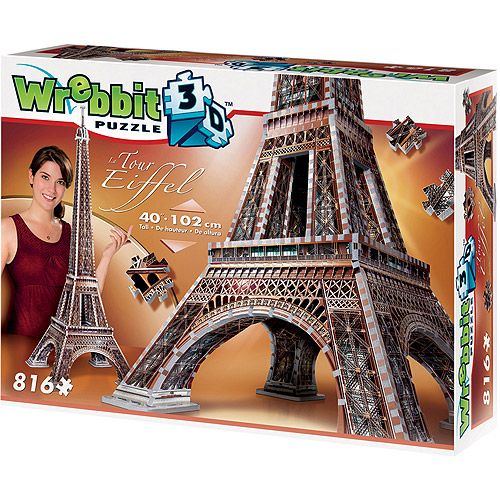 Eiffel Tower 3D Puzzle: 816 Pieces