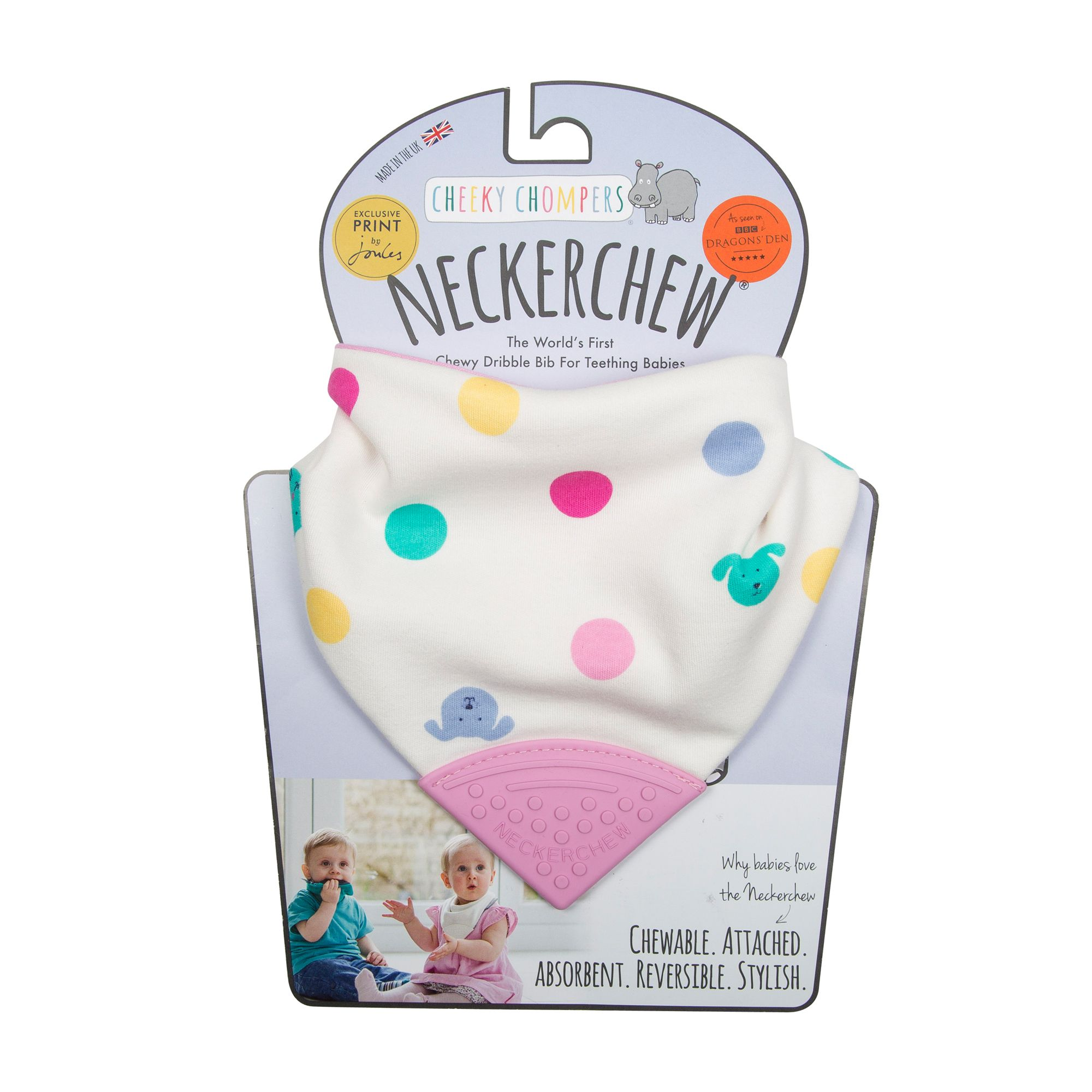 Neckerchew - Cat Dog Spot - Baby Toy by Cheeky Chompers