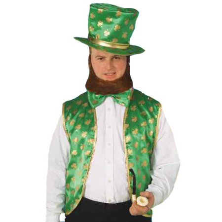 Four Leaf Clover Costume (Forum St. Patrick's Day Leprechaun Costume Kit, Green/Gold, One Size, St. Patrick's Day Leprechaun costume kit features lucky four leaf clover design By Forum)