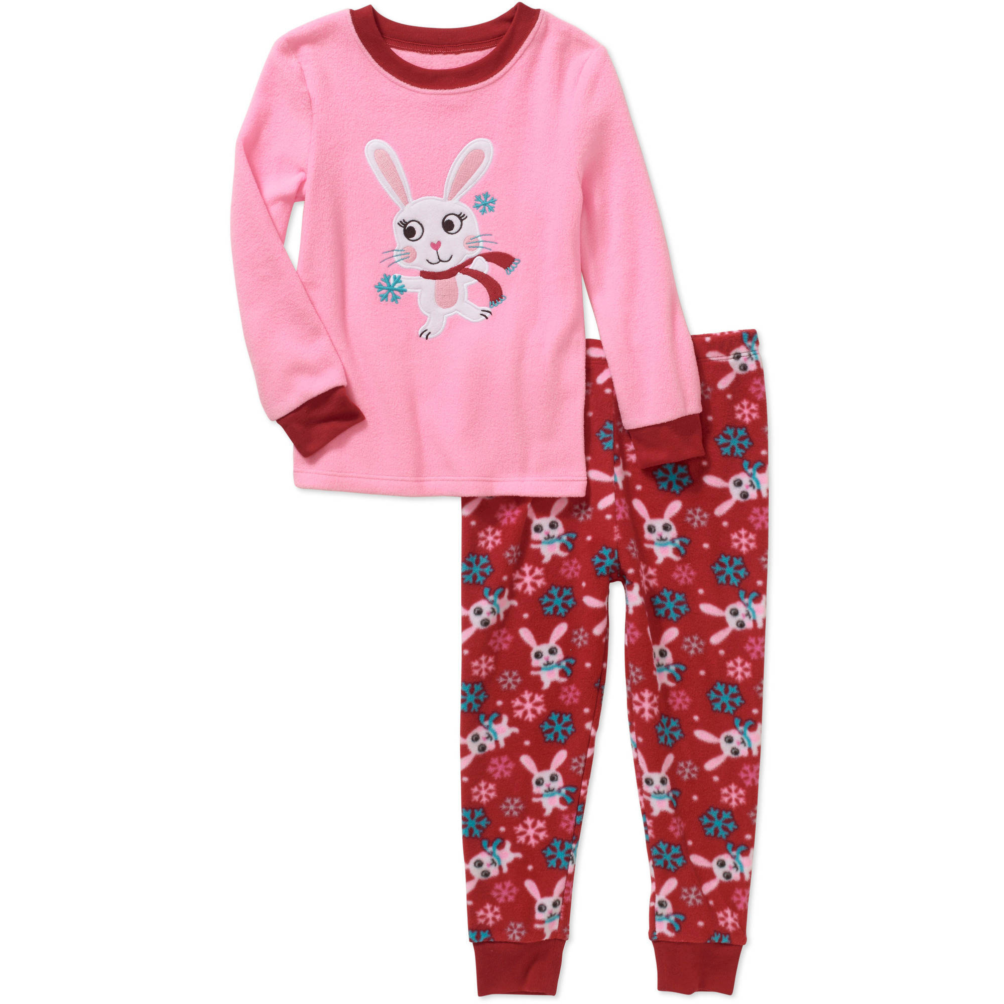 Healthtex Baby Toddler Girl Plush Pajama Set