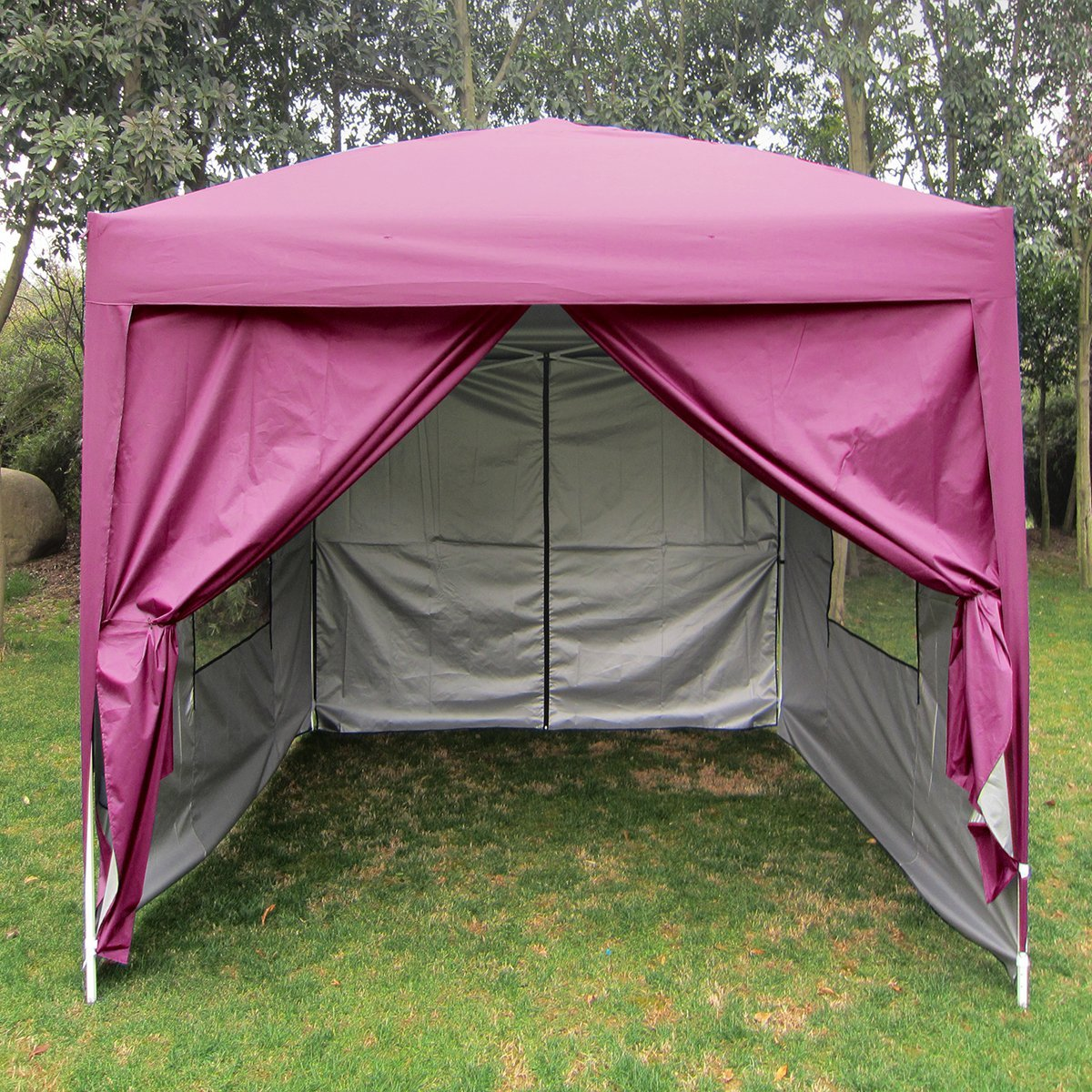 Quictent Privacy 8x8 Mesh Curtain EZ Pop Up Canopy Party Tent Gazebo 100% Waterproof with Sidewalls Pink - Walmart.com & Quictent Privacy 8x8 Mesh Curtain EZ Pop Up Canopy Party Tent Gazebo ...