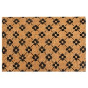 """Hand Made Large Ogee Floral Coir Doormat 24"""" x 36"""""""