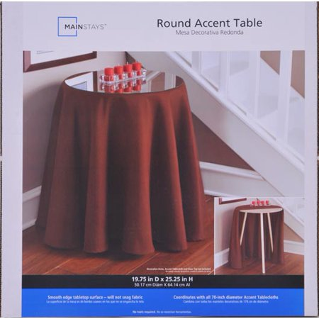 Mainstays 20 Round Decorative Table, Tablecloth For 20 Inch Round Table