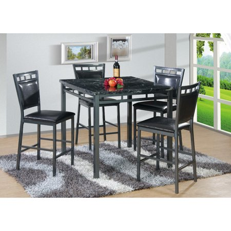 Best quality furniture 5 piece counter height dining set for Best quality dining tables