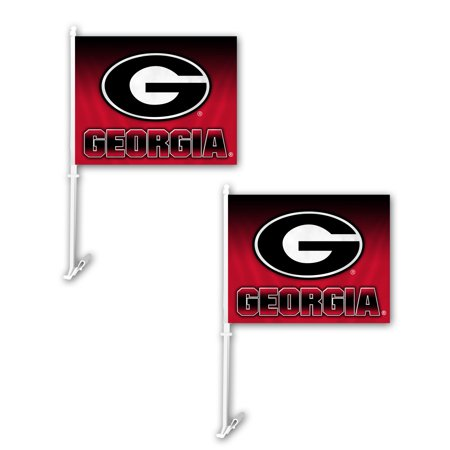 NCAA Georgia Bulldogs Ombre Car Flag 2 - Mississippi State Bulldogs Car Flag