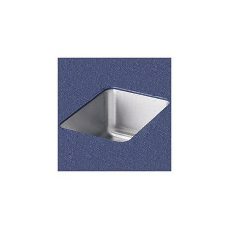 Elkay ELUH1418 Gourmet Lustertone Stainless Steel Single Bowl Undermount Sink