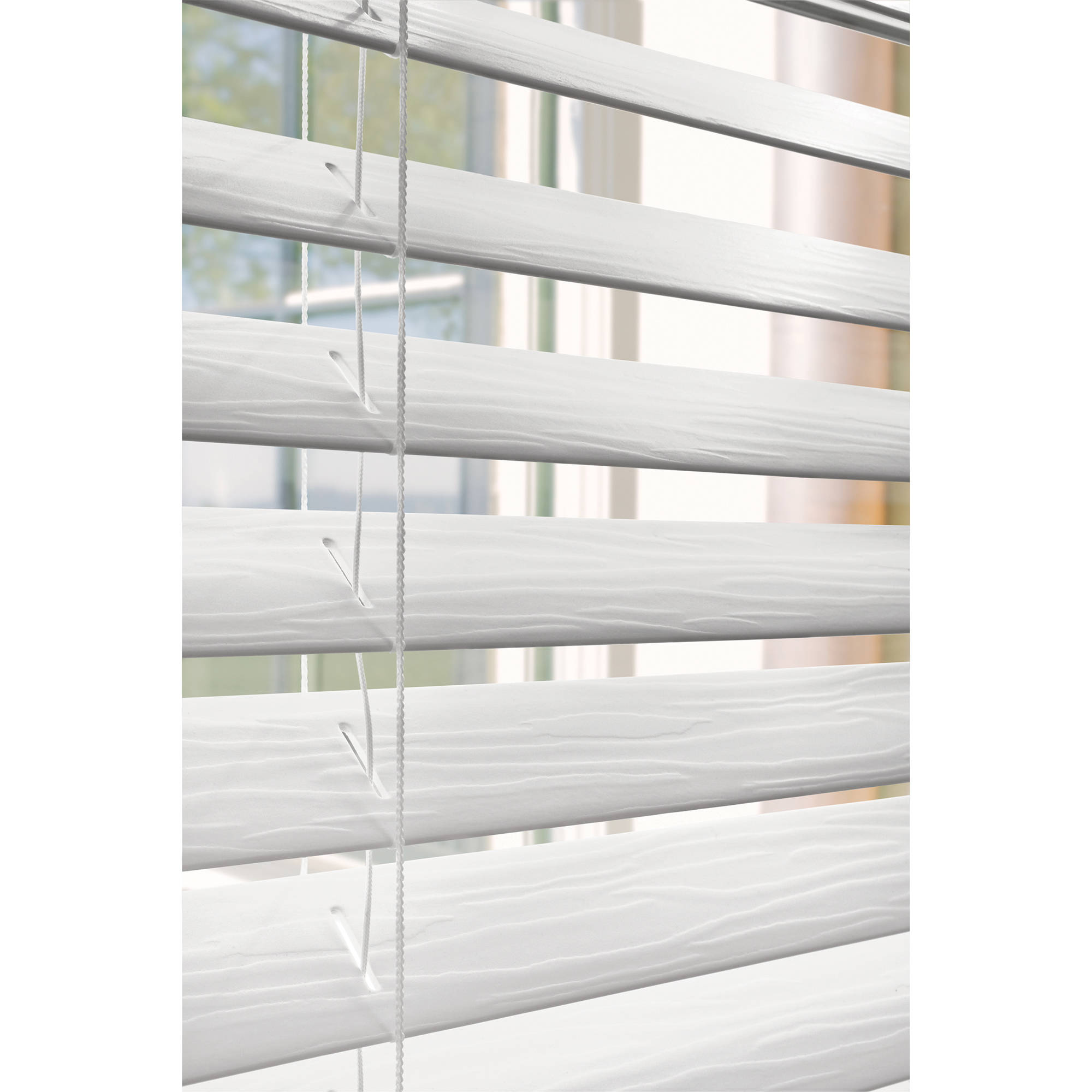 Faux Horizontal Window Wood Blinds Home Furniture Decorators White 2 Inch New Ebay