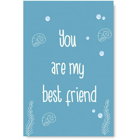 Awkward Styles You Are My Best Friend Poster Art Motivational Prints Kids Room Wall Art Sea Art Whale Illustration Inspirational Quotes Newborn Baby Room Wall Decor Sea Wallpapers Made in