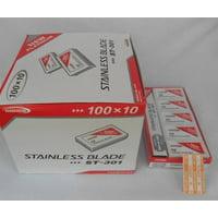 Dorco ST-301 Platinum Double Edge Razor Blades / 1 Case (1000 Count)