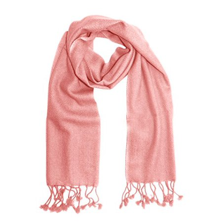 "Unisex Lovely Cashmere Scarf Soft and Warm 12"" x 60"" Neck Scarves (Baby Pink) - image 1 de 1"