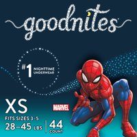 Goodnites Boys Bedtime Bedwetting Underwear, Size XS/S (Choose Count)