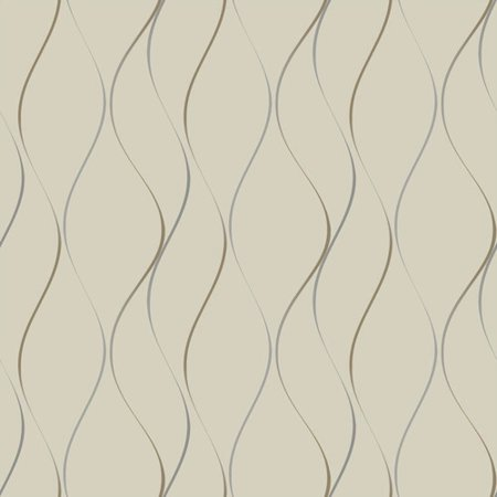 York Wallcoverings Dazzling Dimensions Wavy Stripe 33' x 21'' Wallpaper Roll (Set of 2)