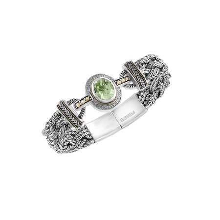 Led Lights On Clothing (Diamond, Green Amethyst and Sterling Silver)