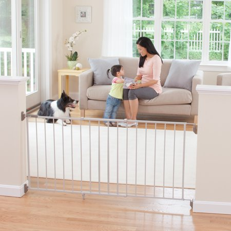 Safety 1st Wide & Sturdy Hardware Mounted 64 In. Sliding Metal Baby Safety (Standard Stainless Steel Gate)