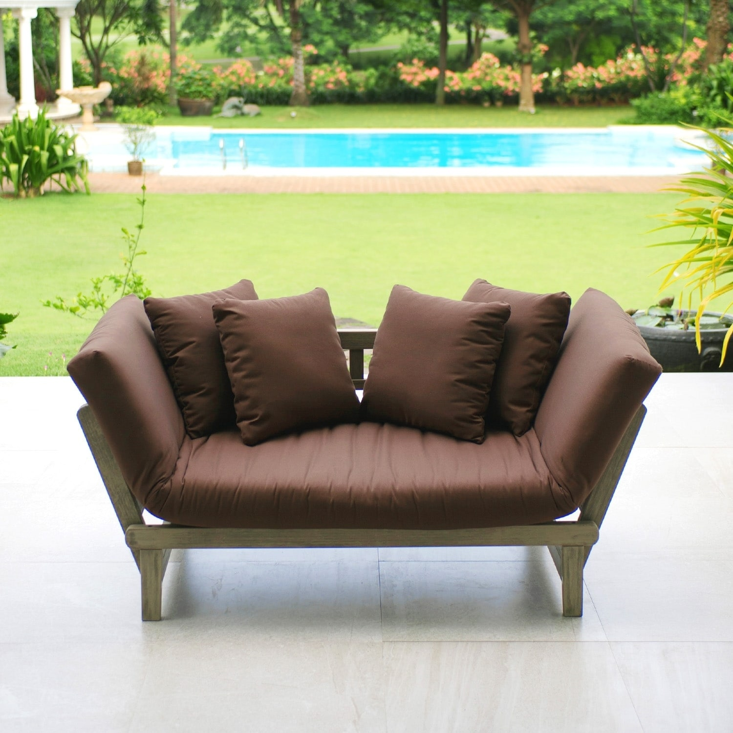 Cambridge Casual  West Lake Convertible Sofa Daybed Brown