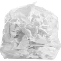 PlasticMill 33 Gallon Clear Garbage Bags, Coreless, 33x39, 1.3 Mil, 100 Bags/ Case