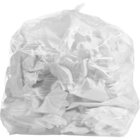 PlasticMill 6 Gallon High Density Clear Garbage Bag,6 MICRON,20x22,100/Case