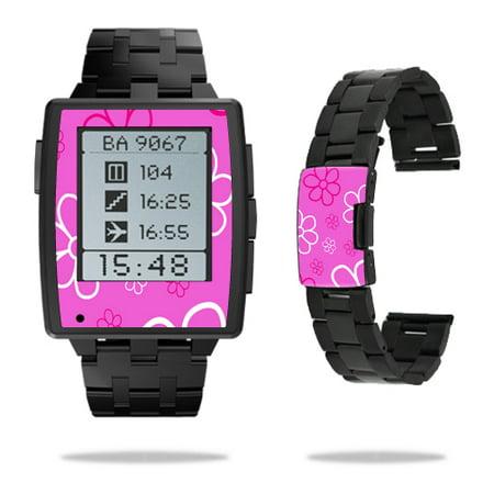 Skin Decal Wrap for Pebble Steel Smart Watch sticker Flower Power