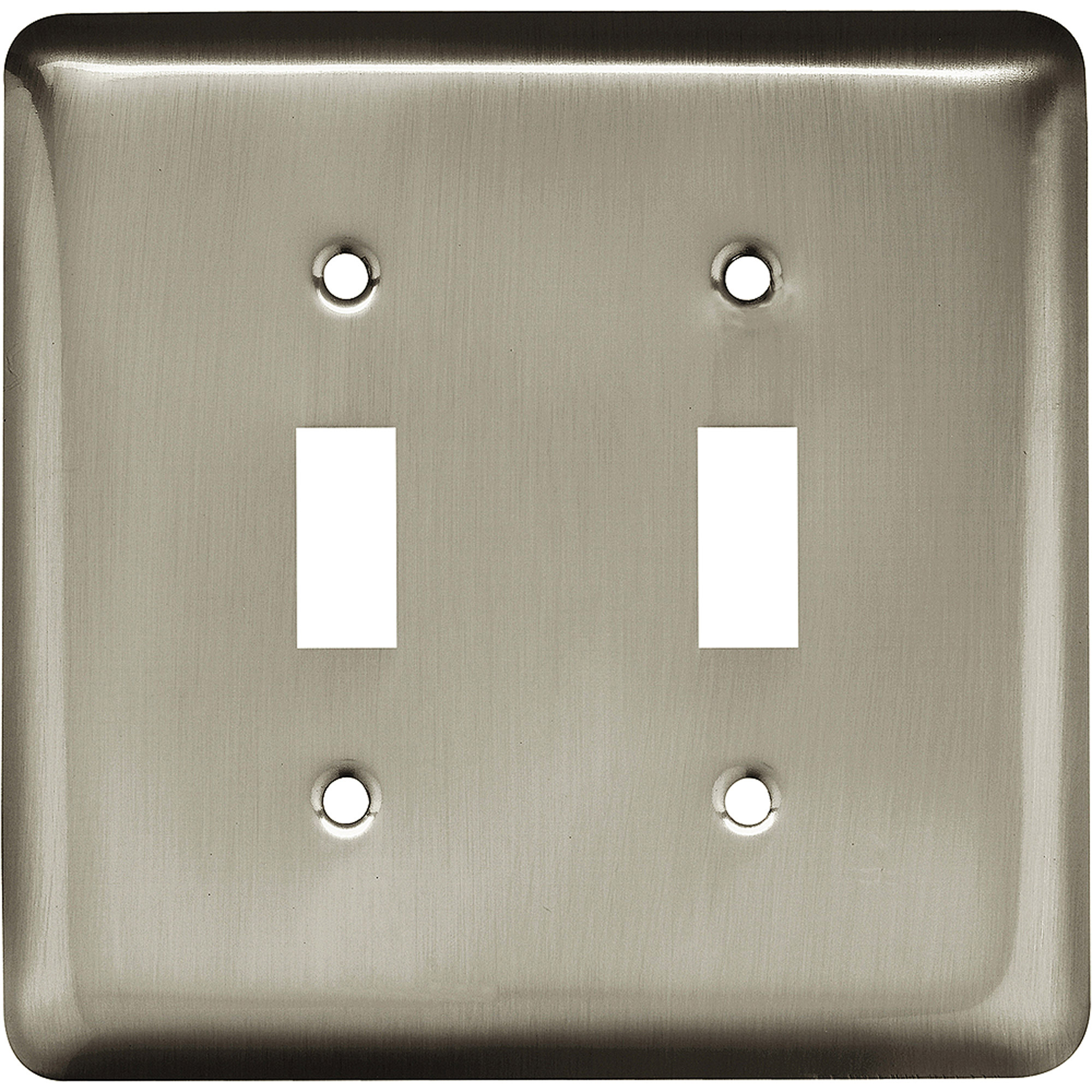 Brainerd Rounded Corner Double Switch Wall Plate, Available in Multiple Colors
