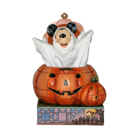Jim Shore Disney Halloween Mickey Beware of the Pumpkin Patch - Halloween Pumpkin Patch