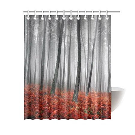 GCKG Winter Landscape Tree Shower Curtain 60x72 Inches Polyester Fabric Bathroom Sets Home Decor - image 3 de 3