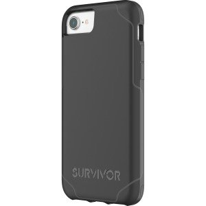 buy online 237fb fd008 Griffin Survivor Strong for iPhone 8 - iPhone 6, iPhone 6S, iPhone 7,  iPhone 8 - Black, Dark Gray - Thermoplastic Polyurethane (TPU),  Polycarbonate - ...