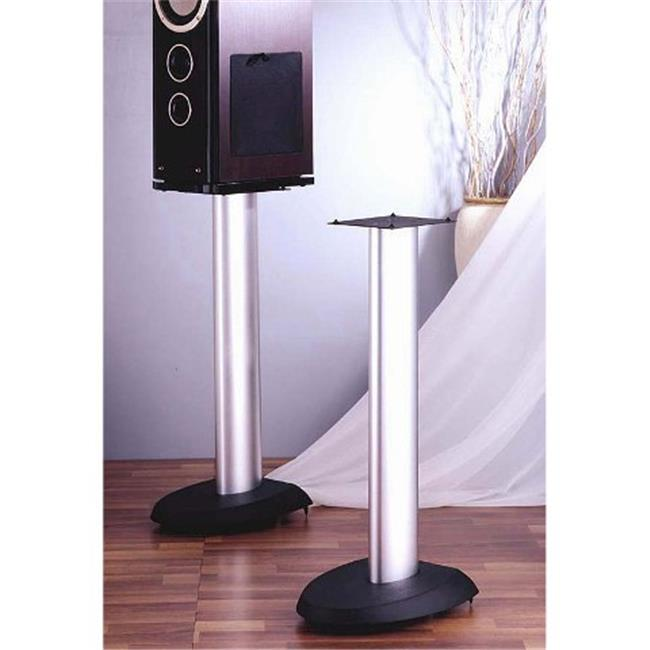 VTI Manufacturing VSP24SB Black Base Silver Aluminum Pole 24 in. Height Speaker Stand by VTI Manufacturing