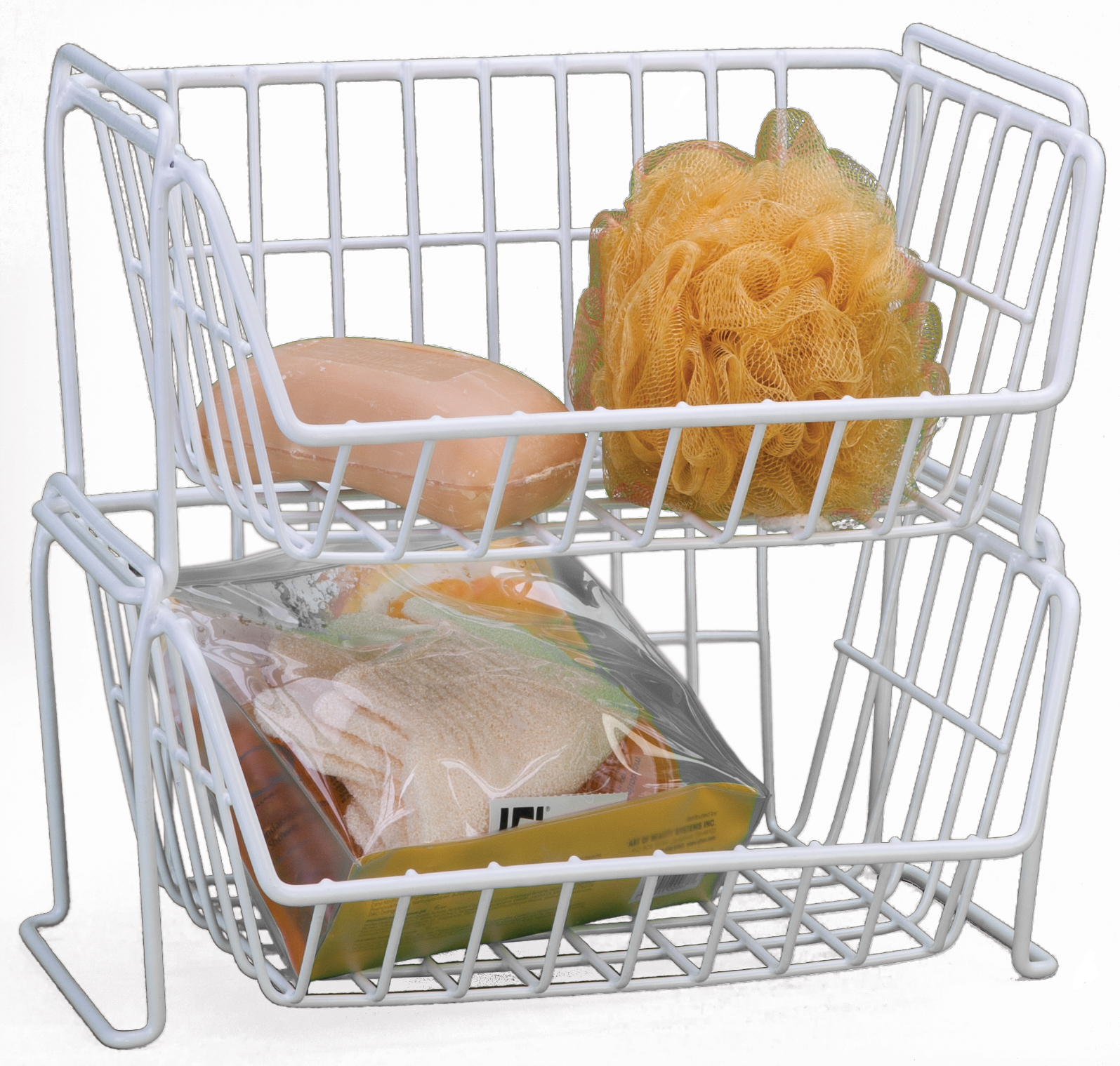 Panacea Small Stacking Basket, White
