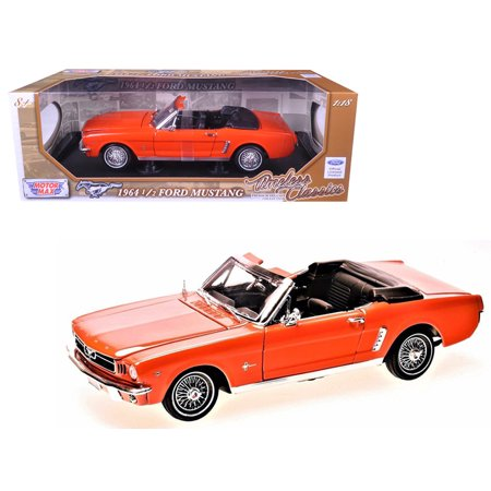 1964 1/2 Ford Mustang Convertible Orange Timeless Classics 1/18 Diecast Model Car by Motormax 1964 1/2 Mustang Convertible