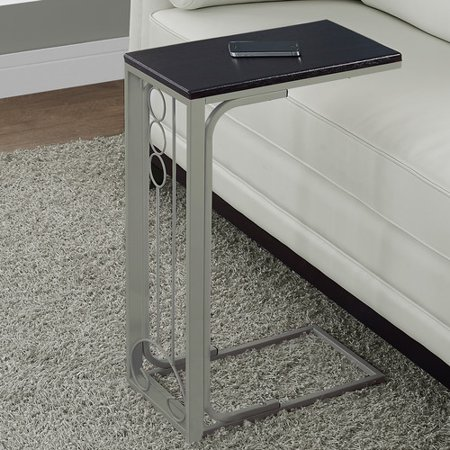 Monarch Accent Table Cappuccino Top / Champagne Metal Cherry Accent End Table