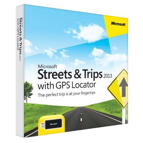 Microsoft Streets & Trips 2013 with GPS Locator