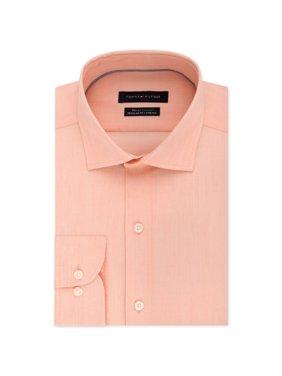 Tommy Hilfiger Mens Performance Button Up Dress Shirt