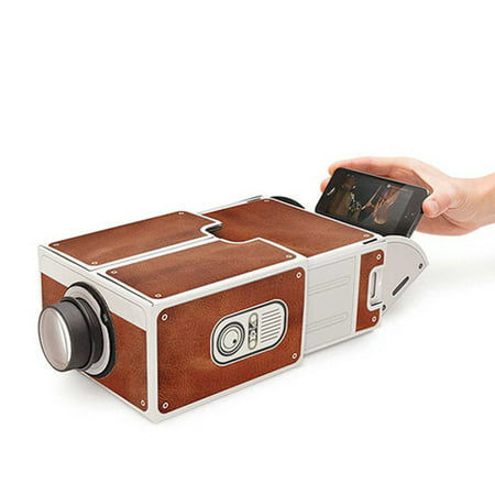 Mini Smart Phone Projector Cinema Portable Home Use DIY Cardboard Projector Family Entertainment Projective Device ()