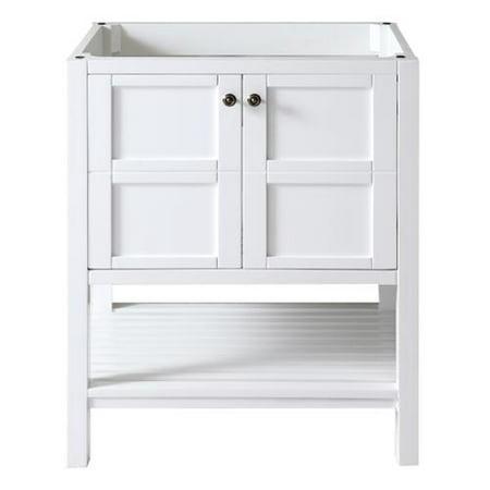 Virtu usa winterfell 30 inch white single sink cabinet only bathroom vanity 30 inch bathroom vanity white