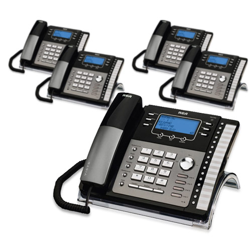 RCA ViSYS 25425RE1 (5-Pack) 4-Line EXP Speaker Phone w  Digital Answering System by GE/RCA