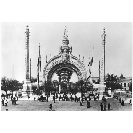The Monumental Entrance at the Place de La Concorde at the Universal Exhibition of 1900, Paris Print Wall Art By French Photographer