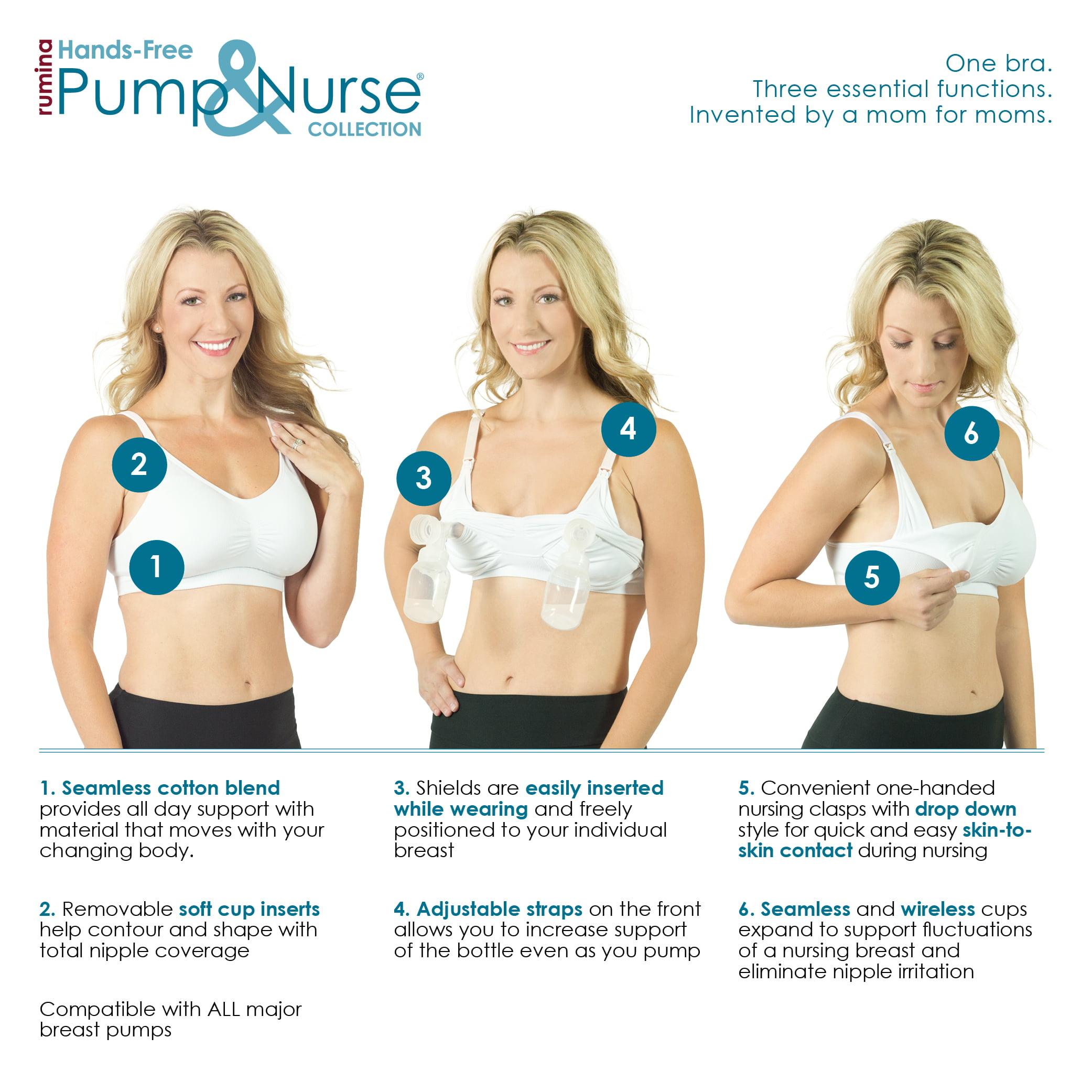 aef2b9e9783c6 Rumina Nursingwear - Rumina Pump&Nurse Seamless All-In-One Nursing Bra For  Maternity, Nursing With Built In Hands-Free Pumping Bra - Walmart.com