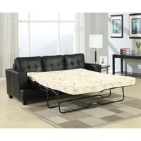 ACME Platinum Tufted Sofa Bed in Leather, Multiple Colors