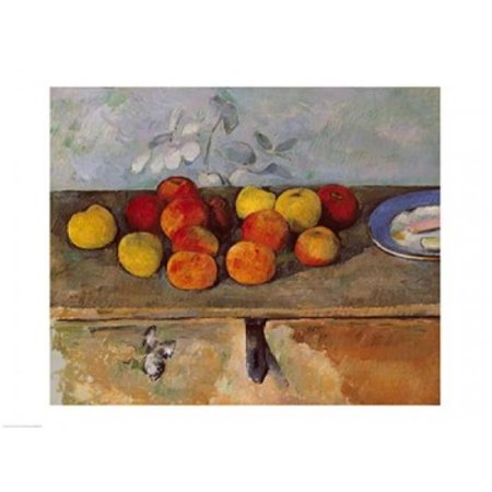 Posterazzi BALXIR82839 Still Life of Apples & Biscuits Poster Print by Paul Cezanne - 24 x 18 in. - image 1 of 1