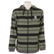 Sessions Heather Stripe Hoodie Olive Heather Mens