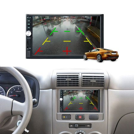 7'' HD TFT display screen 2 Din Stereo Car MP5 Player bluetooth Touchscreen Radio FM Aux With Backup Rear View Camera - image 6 of 10
