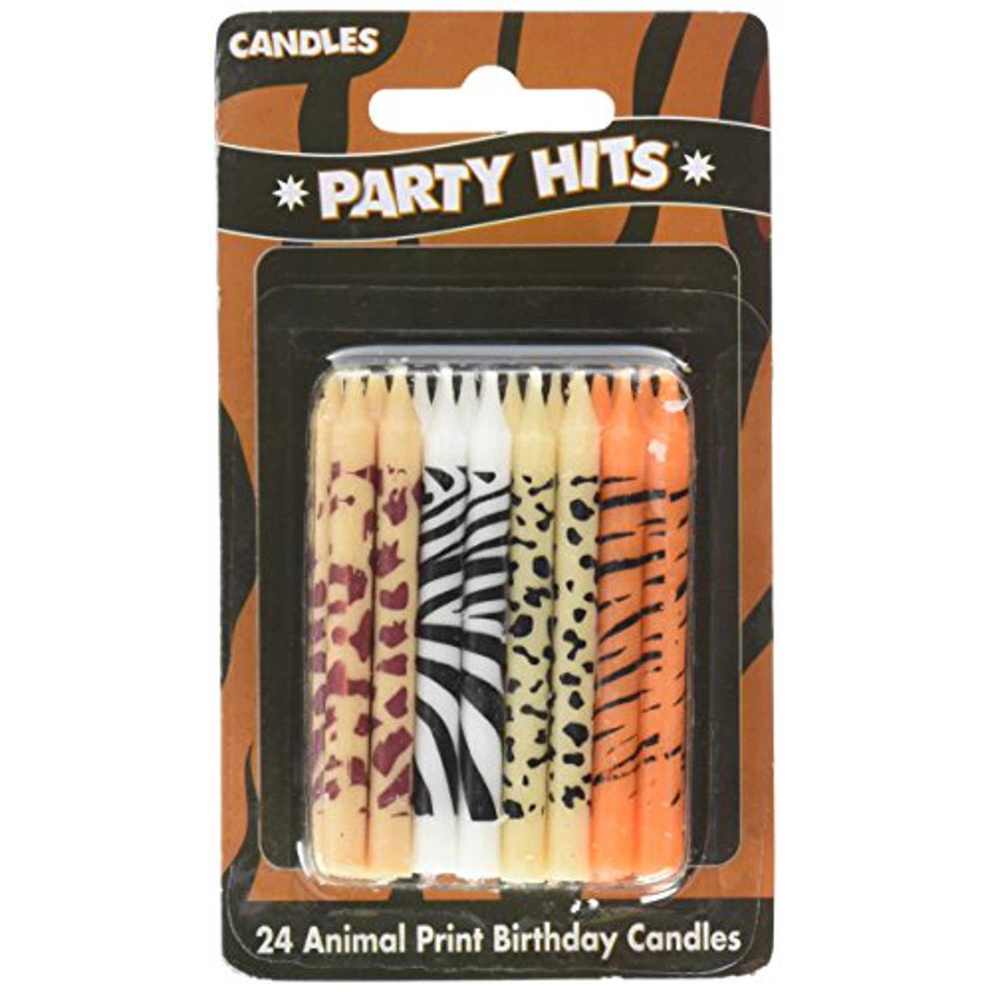 Stupendous 24 Pc Safari Wild Animal Print Birthday Cake Candles Walmart Canada Funny Birthday Cards Online Elaedamsfinfo