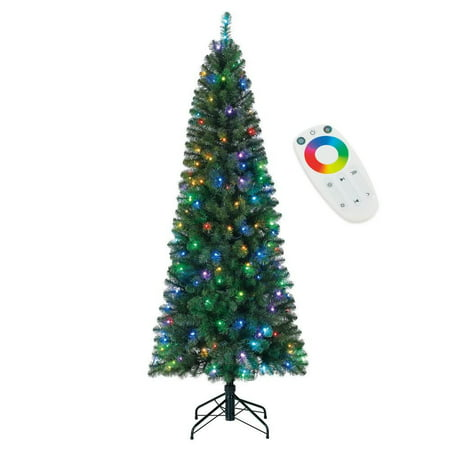 Home Heritage 7 Foot Pre-Lit Christmas Tree with LED Multi Function Lights - image 7 de 7