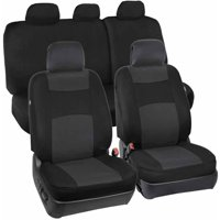 Product Image BDK Car Seat Covers 9 Piece Polyester Cloth 2 Front And 60 40 Split